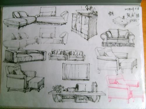 一些近期的手绘室内设计效果图