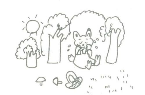看图写话《小兔采蘑菇