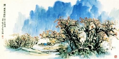 作品取材是南国常见的榕树
