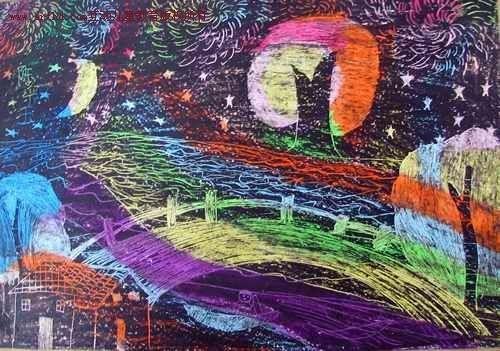 刮画作品-秦皇岛滨海儿童创想美术工作室-搜狐博客