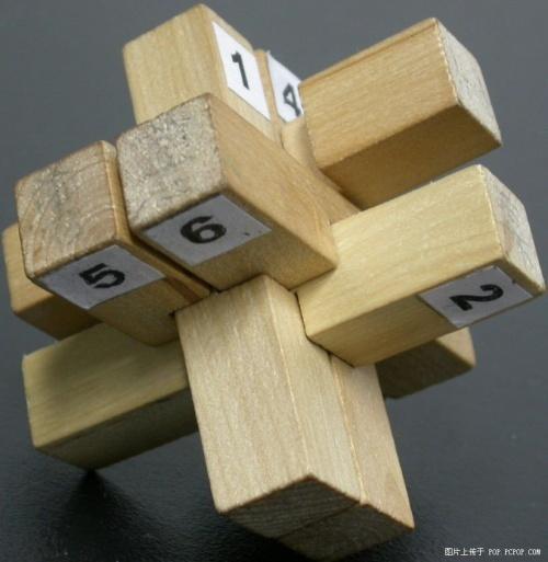 孔明锁b型解法