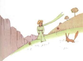 狐狸行走手绘图片