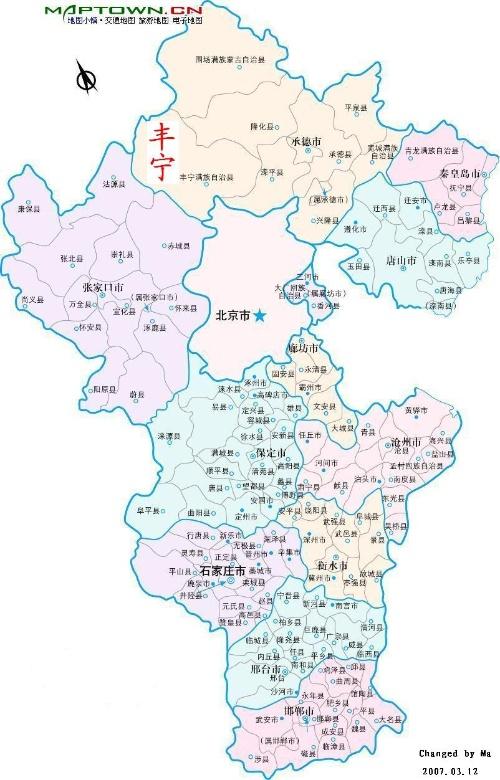 丰宁县地图