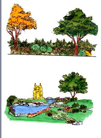 手绘的园林小景-阳光玉薇园林-搜狐空间