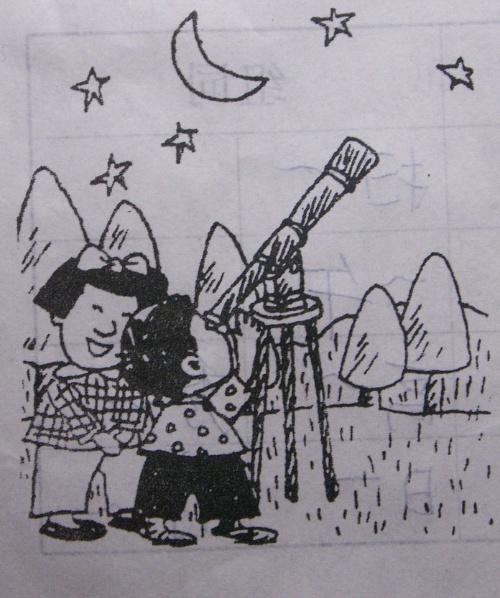 看图写话——望星空图片