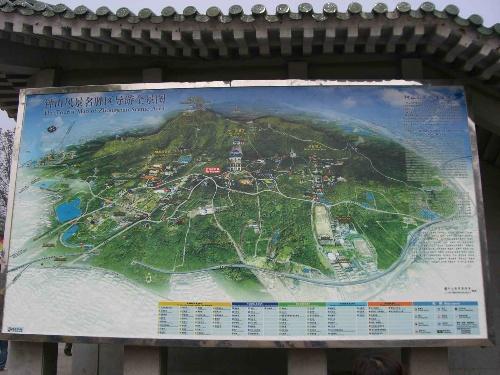 钟山风景区导游全景图