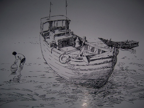 第一张钢笔手绘图