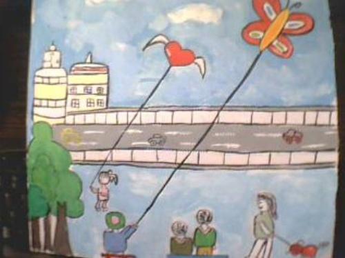 农村画家乡的简笔画图片