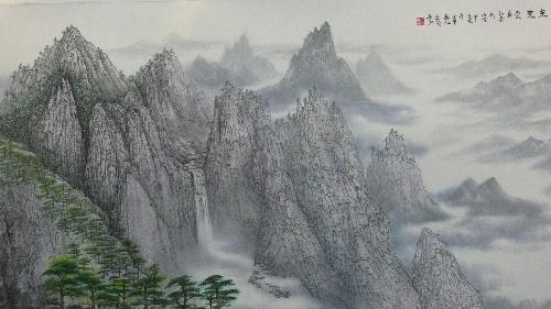 泰山云海石碑