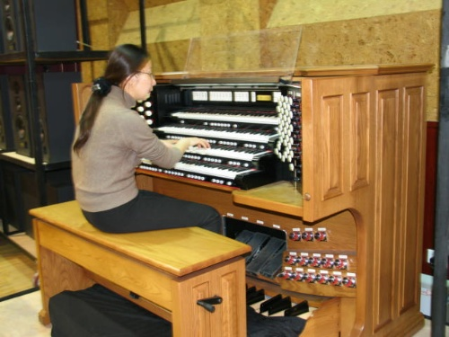 """我还将使用这台电子""""管风琴""""来重复演奏图片"""