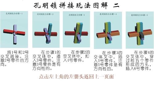智力玩具--孔明锁三代解法(含图解)